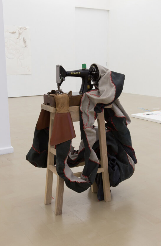 'Umbhexeshi' 2016 | Wood, leather, ribbon, singer sewing machine, gloves