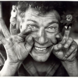 John Berger, 1980, by Jean Mohr